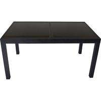 Torino 210 x 90 cm schwarz ausziehbar