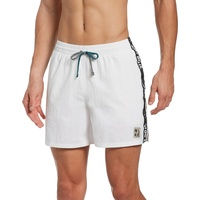 "Nike Swim JDI Logo Tape 5"" Volley Shorts Herren white M 2021 Schwimmslips & -shorts"