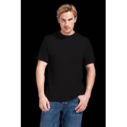 T-Shirt Men's Premium Gr.3XL schwarz 100%BW 180g/m² Necktape