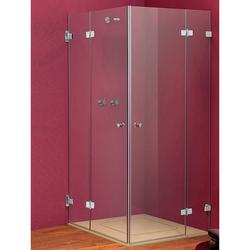 Sprinz BS-Dusche Eckeinstieg-Duschkabine 2 Duschtüren, 2 Festteilen