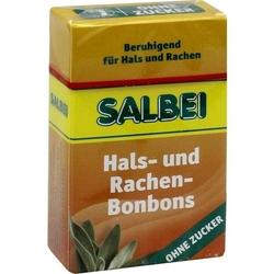 SALBEI HALS und Hustenbonbons o.Zucker 40 g