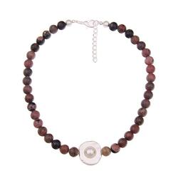 leslii Halskette mit Steinkugeln rot