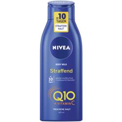 NIVEA Body Q10 Plus Hautstraffende Body Milk , Körpermilch für eine straffere Haut mit verbesserter Elastizität, 400 ml - Flasche