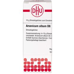 ARSENICUM ALBUM D 6 Globuli 10 g