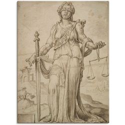 Artland Wandbild Justitia., Frau (1 Stück) 90 cm x 120 cm
