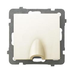 Kabelanschluss - Steckdose ecru Ospel As GPPK-1G/m/27