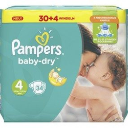 Pampers Windeln Baby Dry Größe 4 Maxi (8-16kg)