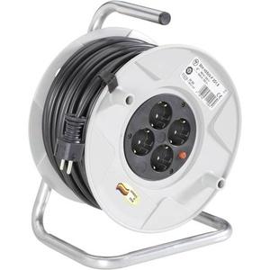 Brennenstuhl 1099160001 Kabeltrommel 50m Schwarz Schutzkontakt-Stecker