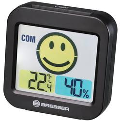 BRESSER Thermo- und Hygrometer Temeo Smile mit Raumklimaindikator schwarz