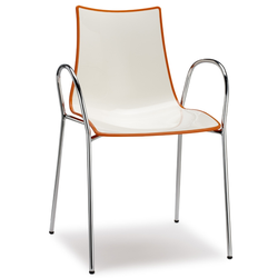 SCAB Designer Stuhl ZEBRA mit Armlehnen h74113