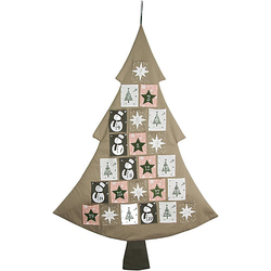 Adventskalender / Baum 79 x 117 cm, Säckchen 7,5 x 9,5 cm