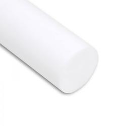 PTFE Rundstab virginal extrudiert - Ø 40 mm - L: 100 mm