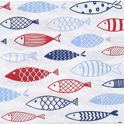 "Papierservietten ""Fische"", 33 x 33 cm, 20 Stück"