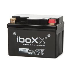 Iboxx Motorrad-Batterie  Gel, YTX4L-BS, 12 Volt, 3 Ah