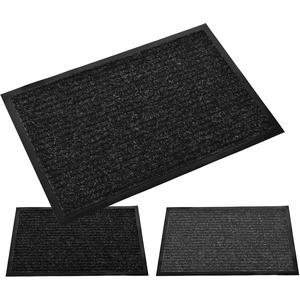 Möbelbörse Schmutzfangmatte Türmatte Sauberlaufmatte Fußmatte Schmutzmatte Vorleger Türvorleger | innen und außen | schwarz - grau | 40x60cm 60x90cm 80x120cm (Schwarz, 40 x 60 cm)