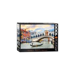 empireposter Puzzle Venedig Rialto Brücke - 1000 Teile Puzzle im Format 68x48 cm, 1000 Puzzleteile