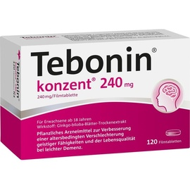 Dr Willmar Schwabe GmbH & Co KG Tebonin konzent 240 mg Filmtabletten 120 St.