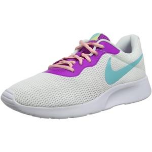 Nike Damen WMNS Tanjun Turnschuhe, Weiß (White/Lt Aqua/Hyper Violet/Bleached Coral/Luminous Green 106), 44 EU