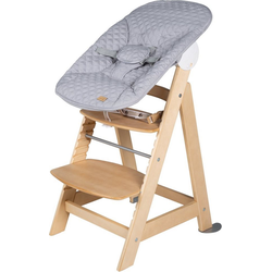 roba® Hochstuhl Treppenhochstuhl 2-in-1 Set Style, Born Up, mit Neugeborenen-Aufsatz natur