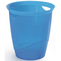 Papierkorb 16l blau-transluzent