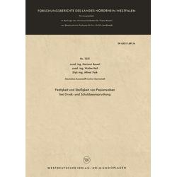 Festigkeit und Steifigkeit von Papierwaben bei Druck- und Schubbeanspruchung als Buch von Hartmut Bossel