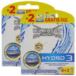20 Wilkinson Sword Hydro 3 2x8 Rasierklingen Ersatzklingen & 2x2 Gratis Klingen