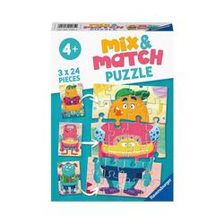 Ravensburger Puzzle Puzzle 3x24 Teile- Lustige Monster, Puzzleteile