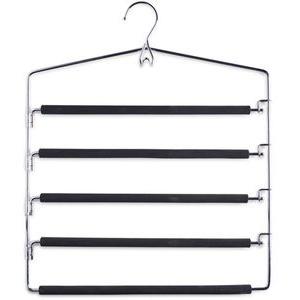 Zeller Kleiderbügel 17135, aus Metall, silber, Mehrfach-Hosenbügel