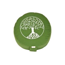 yogabox Yogakissen Glückssitz Lebensbaum grün
