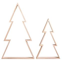 Rayher Bastelzubehör Holz Rahmen Set Weihnachtsbaum