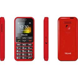 Telme C151 Senioren-Handy mit Ladestation, SOS Taste Rot