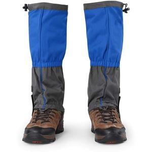 Jenngaoo 1 Paar Outdoor Gamaschen rodeln, Gamaschen Wandern wasserdichte Gamaschen Gaiter für Outdoor-Hosen zum Wandern, Klettern und Schneewandern schneeschutz Schuhe(Blau)