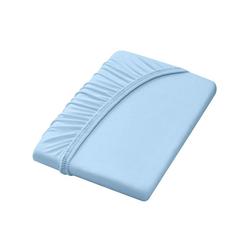 Dormisette Spannbettlaken blau 140-160 cm x 200 cm