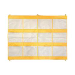EDUPLAY Aufbewahrungsbox Schreibtisch-/Wandorganizer 100 x 80 cm gelb