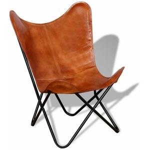 Butterfly Sessel Armchair Stühle Relax Stuhl Relaxstuhl Retro Echt Leder Retro