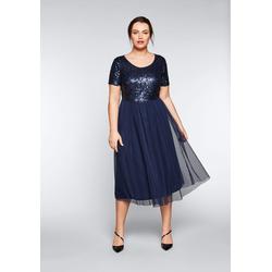 Sheego Abendkleid, weich gefüttert blau Damen Abendkleider Kleider Abendkleid