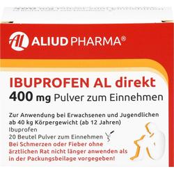 IBUPROFEN AL direkt 400 mg Pulver zum Einnehmen 20 St.