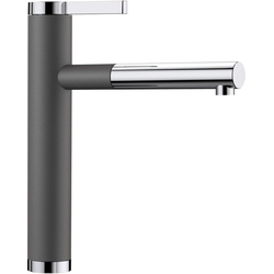 Blanco Küchenarmatur LINEE-S mit ausziehbarem Auslauf grau