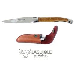 Laguiole Frankreich Taschenmesser Original LAGUIOLE en Aubrac Taschenmesser Griffschalen Teckholz