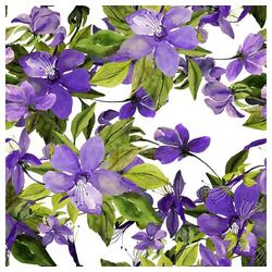 Linoows Papierserviette 20 Servietten, Blühende violette Clematis, 33x33, Motiv Blühende violette Clematis