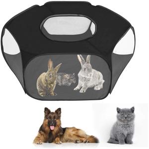 Faltbar Haustier Zelt Tragbarer Welpenlaufstall Tierlaufstall für Hunde Katzen, Abnehmbare Wasserdichtes Kleintiere Laufstal Hundelaufstall Hundehütte Katzenhaus für den Innen- und Außenbereich