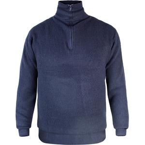 normani Herren Troyer Pullover mit Rollkragen und Reißverschluss Blau Gr. S-XXXL Farbe Blau Größe XXL
