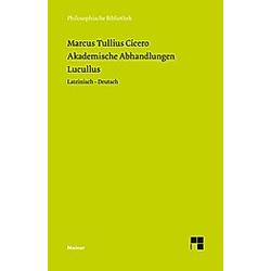 Akademische Abhandlungen  Lucullus. Cicero  - Buch