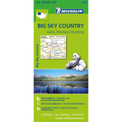 Michelin Zoomkarte Big Sky Countries 1 : 1.267.200 - Straßenkarten