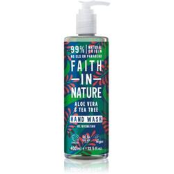 Faith In Nature Aloe Vera & Tea Tree natürliche Flüssigseife für die Hände mit Teebaumextrakt 400 ml