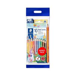 STAEDTLER Buntstift Noris Buntstifte, 10 Farben, inkl. Regenbogenstift