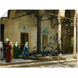 Artland Wandbild Haremsdamen beim Tauben füttern., Gruppen & Familien (1 Stück) 40 cm x 30 cm