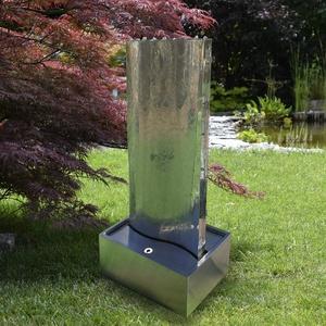 Köhko® Wasserwand Libro mit LED-Beleuchtung Höhe ca. 122 cm Wasserspiel mit Edelstahlbecken 23007S