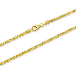 333er Goldkette: Zopfkette Gold 45cm
