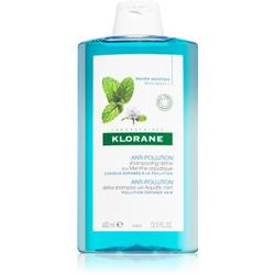 Klorane Aquatic Mint reinigendes Detox-Shampoo für Haare, die der Luftverschmutzung ausgesetzt sind 400 ml